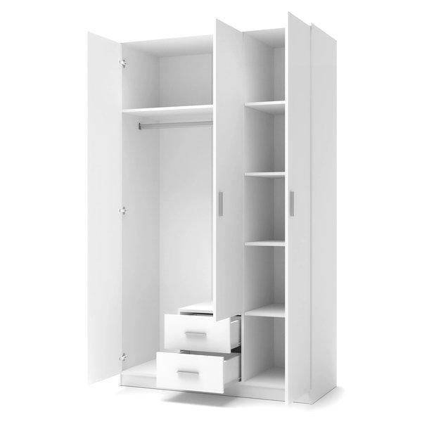 Šatní skříň LINA 3 - bílá