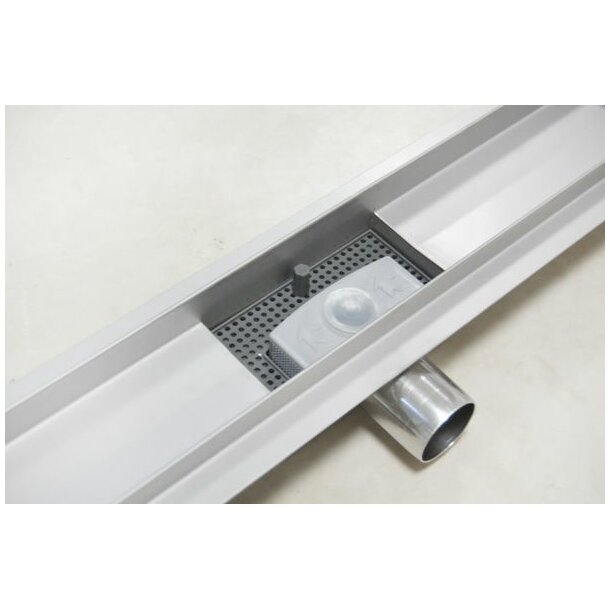 Sprchový žlab MAXMAX Mexen BLACK GLASS, skleněný kryt