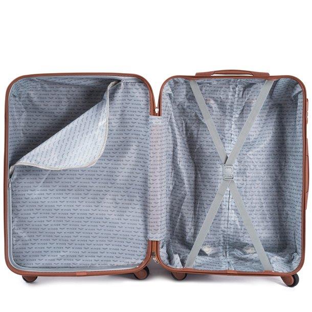 Moderní cestovní kufry ARROW - metalické modré