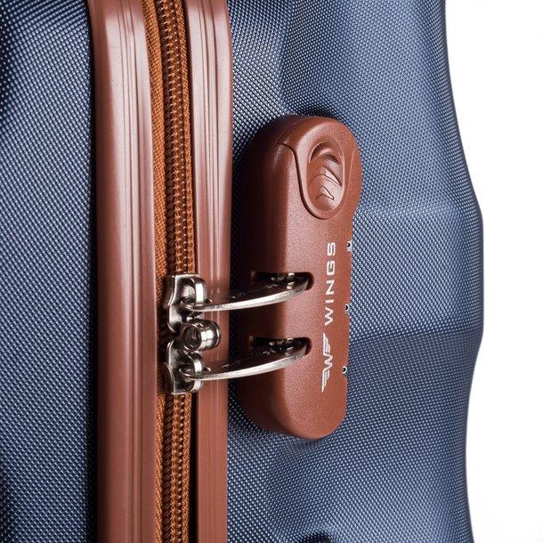 Moderní cestovní kufry ARROW - vínové