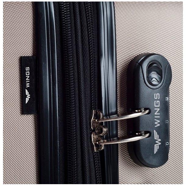 Moderní cestovní kufry CADERE - žluté