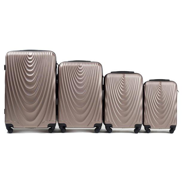 Moderní cestovní kufry CADERE - béžové