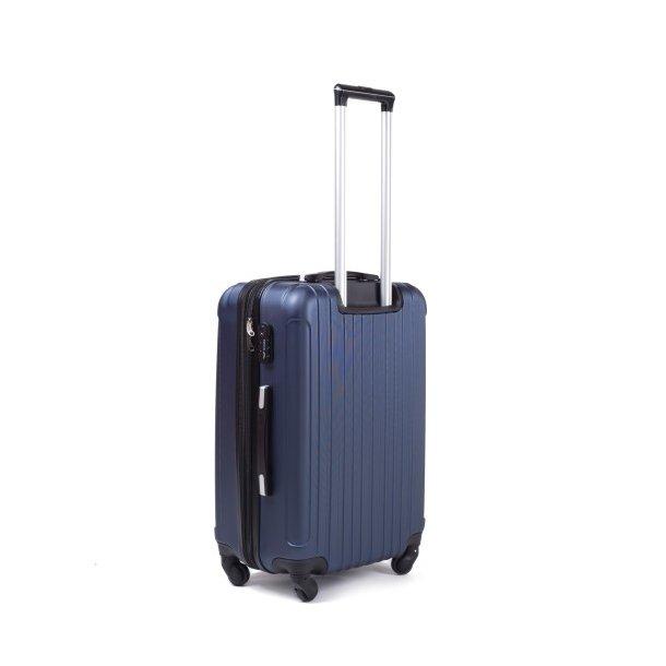Moderní cestovní kufry FLAMENGO - stříbrné