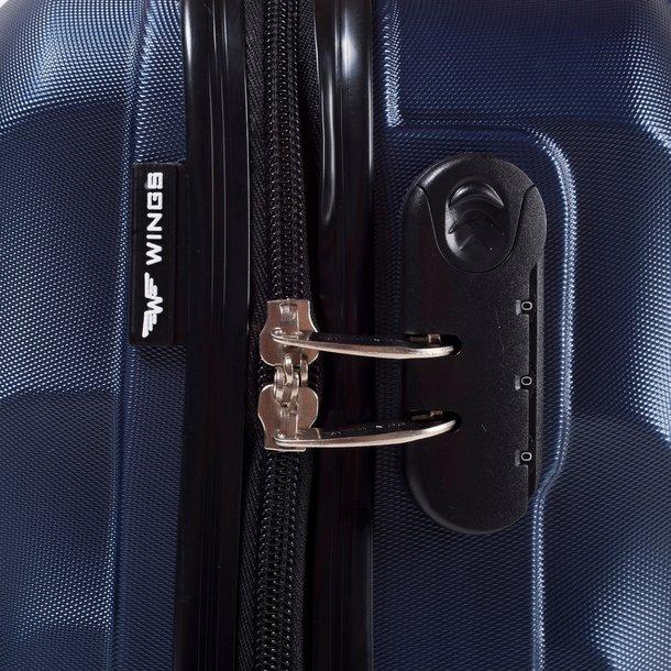 Moderní cestovní kufry FLAMENGO - žluté