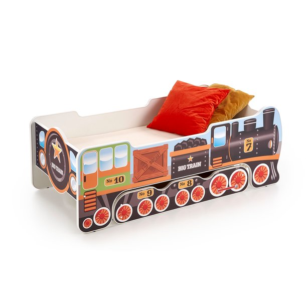 Dětská postel se šuplíkem LOKOMOTIVA 140x70 cm + MATRACE