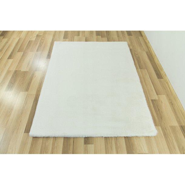Dětský plyšový koberec CHRISTIANIA - bílý