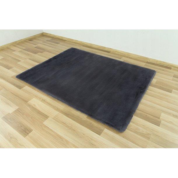 Dětský plyšový koberec CHRISTIANIA - tmavě šedý