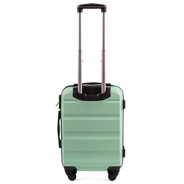 Moderní cestovní kufry WALL - hnědé