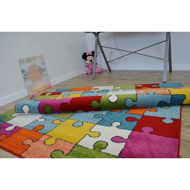 Dětský koberec Puzzle barevný