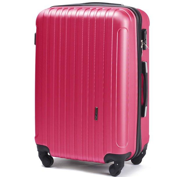 Moderní cestovní kufry FLAMENGO - růžové