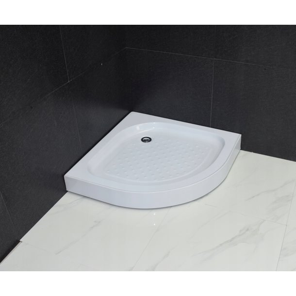 Sprchový kout s vaničkou MAXMAX MEXEN RIO transparent - čtvrtkruh 70x70 cm