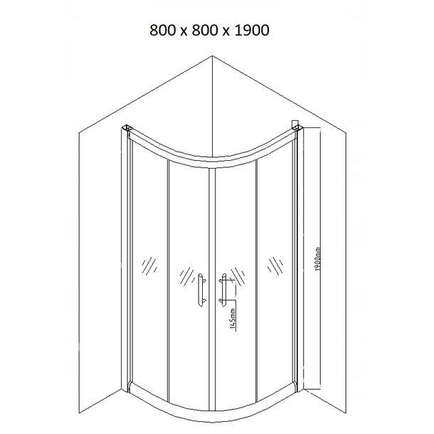 Sprchový kout MAXMAX MEXEN RIO mat - čtvrtkruh 80x80 cm