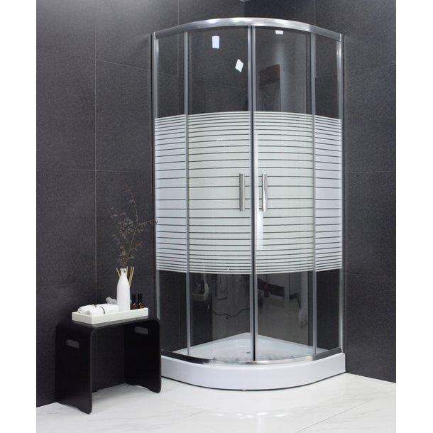 Sprchový kout MAXMAX MEXEN RIO stripe - čtvrtkruh 90x90 cm