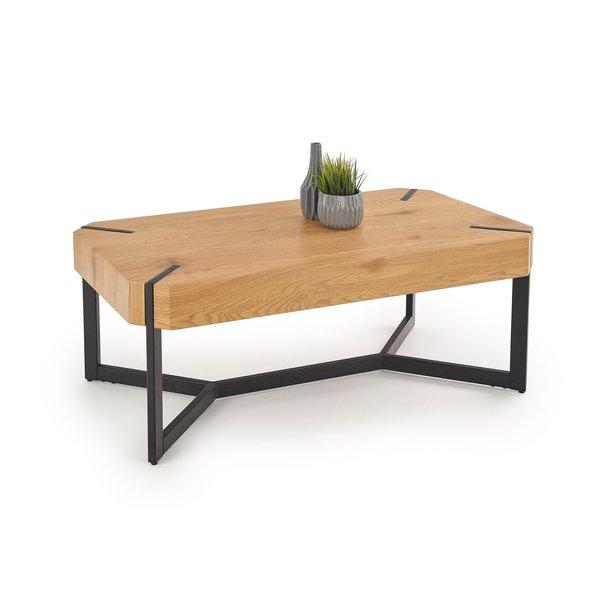 Konferenční stolek DAVID - dub zlatý/kov