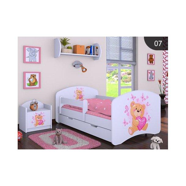 Dětská postel se šuplíkem 160x80cm MÍŠA - bílá