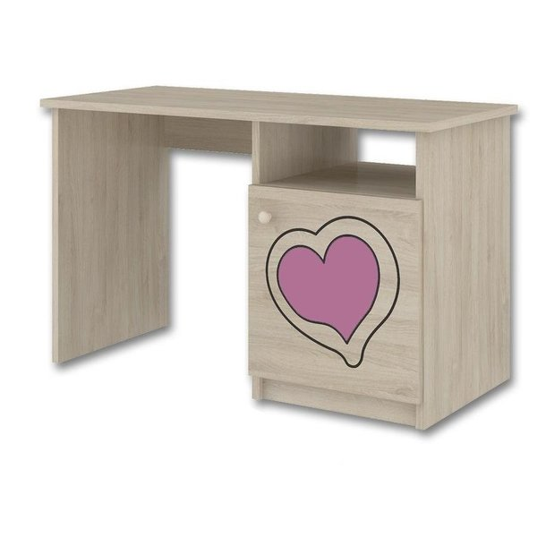 Dětský psací stůl s výřezem MÉĎA - růžová