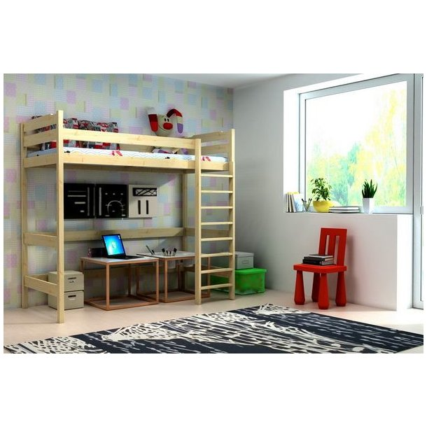 SKLADEM: Vyvýšená dětská postel z MASIVU 180x80cm - ZP004