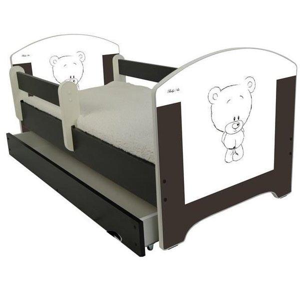 ***SKLADEM*** Dětská postel HNĚDÝ MEDVÍDEK 140x70 cm + matrace ZDARMA!