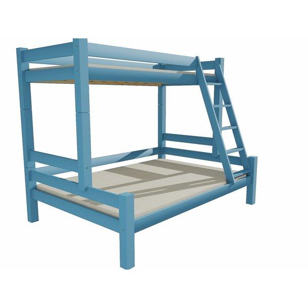Dětská patrová postel s rozšířeným spodním lůžkem z MASIVU 200x80cm se šuplíky PAVLÍNA