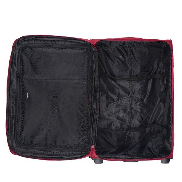 SKLADEM: Moderní cestovní kufry CAMERINO - červené - XXL