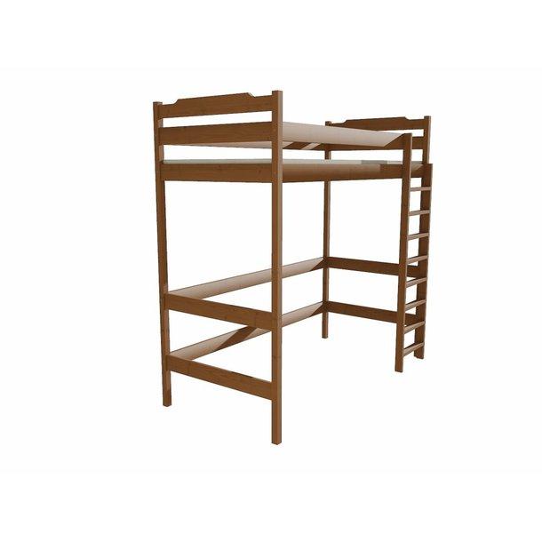 Vyvýšená dětská postel z MASIVU 200x90cm - ZP004