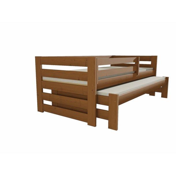 Dětská postel s výsuvnou přistýlkou z MASIVU 200x90cm bez šuplíku - DPV007