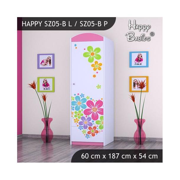 Dětská skříň - TYP 5B - růžová