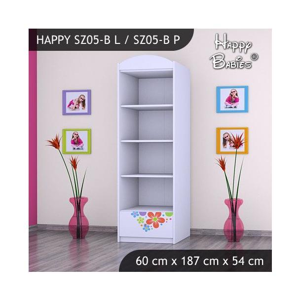 Dětská skříň - TYP 5B - bílá