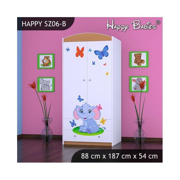 Dětská skříň - TYP 6B - buk