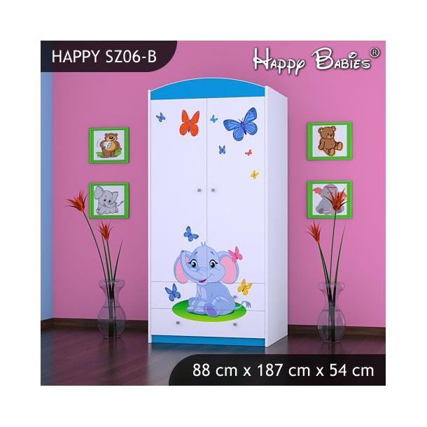 Dětská skříň - TYP 6B - modrá