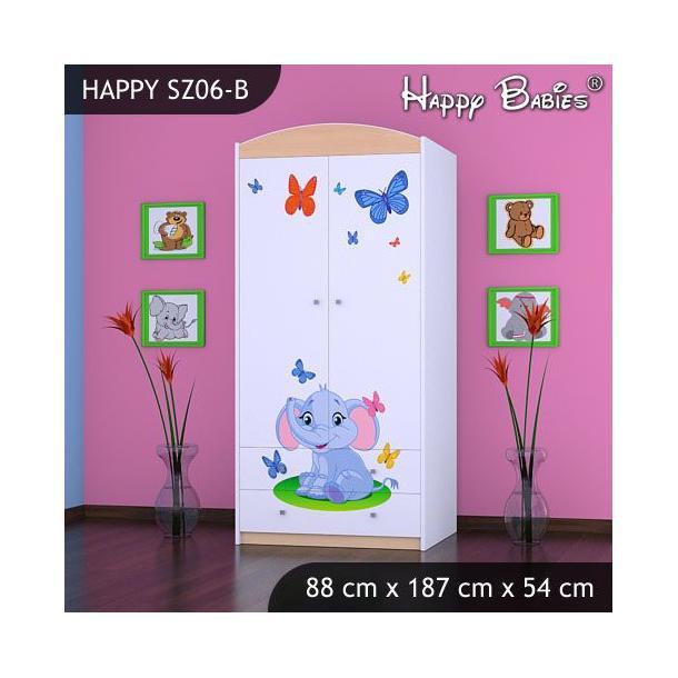Dětská skříň - TYP 6B - světlá hruška