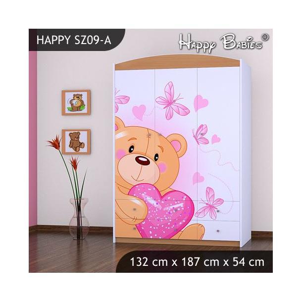Dětská skříň - TYP 9 - buk