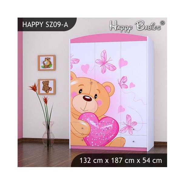 Dětská skříň - TYP 9 - růžová