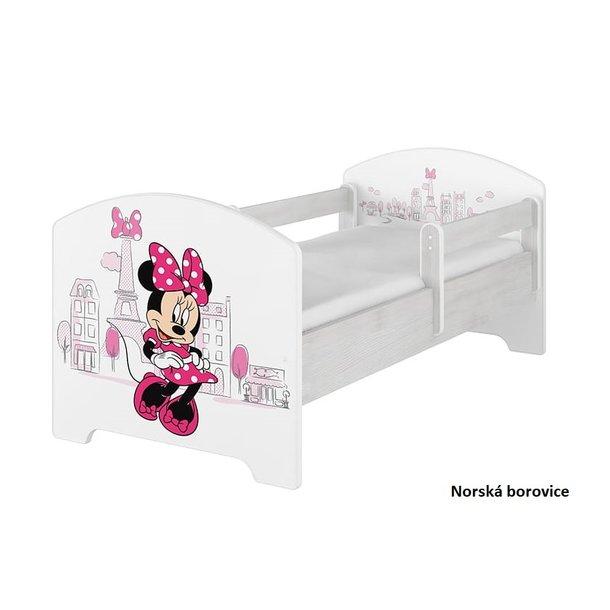 Dětská postel Disney - MYŠKA MINNIE PARIS 140x70 cm