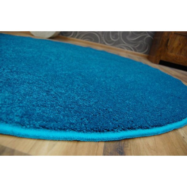 SKLADEM: Kulatý koberec LAS VEGAS tyrkysový