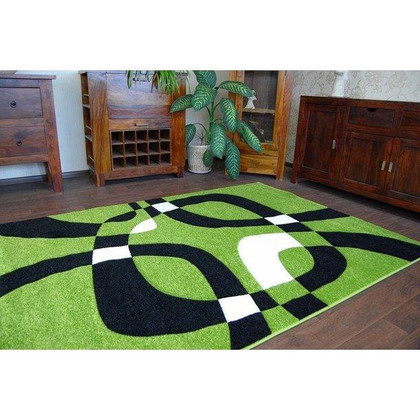 SKLADEM: Moderní koberec ZELENÝ H203-8405 - 80x150 cm