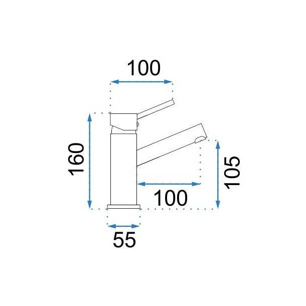 Umyvadlová baterie LUMI šedá - nízká