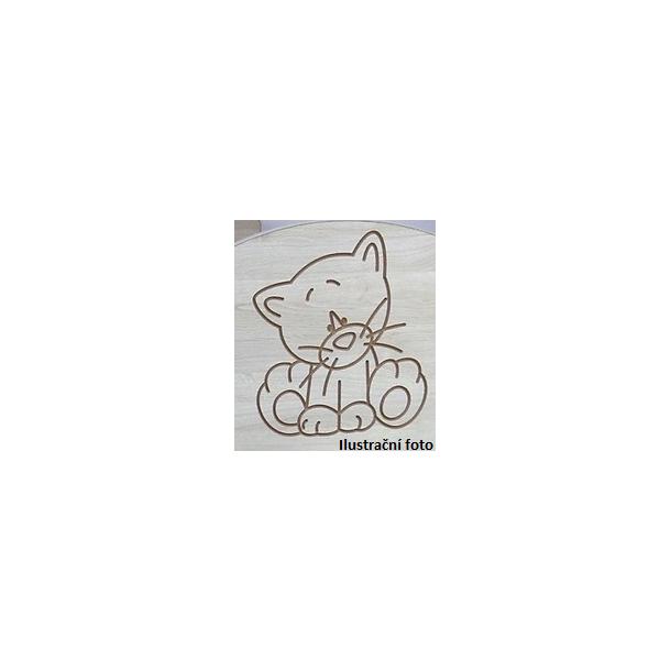 Dětský úložný regál s výřezem MÉĎA 4-komorový - růžová