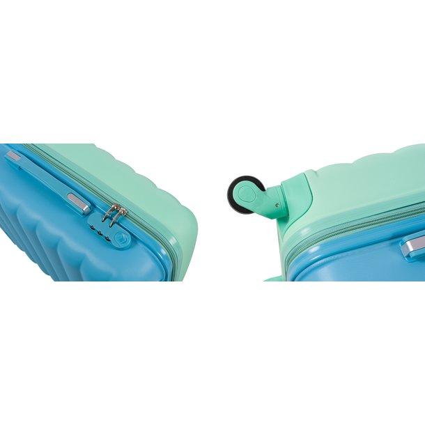 Cestovní kufry CANDY - fialovo/modré