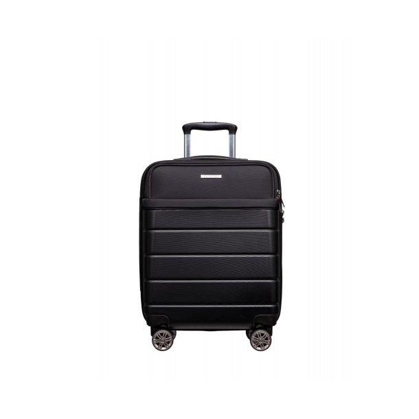 Moderní cestovní kufr ATHENS, velikost M - černý