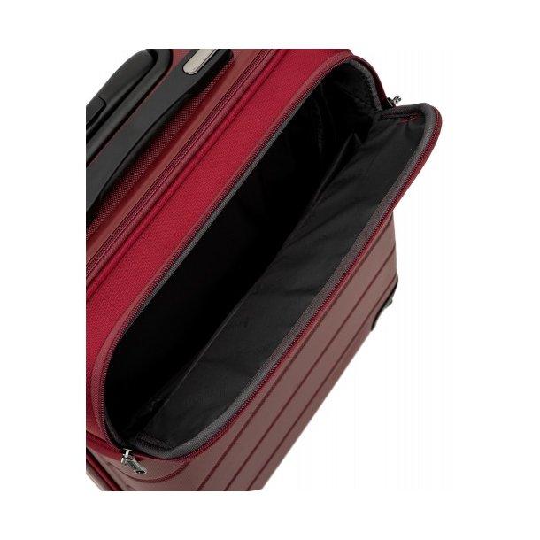 Moderní cestovní kufr ATHENS, velikost M - červený