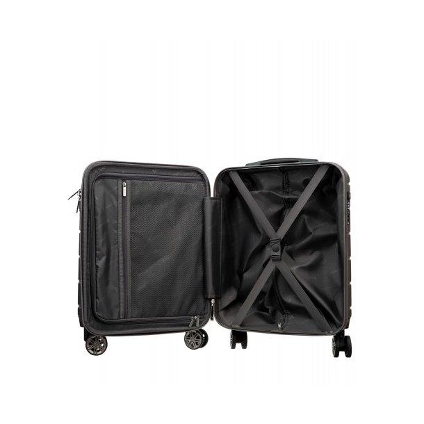 Moderní cestovní kufr ATHENS, velikost M - šedý