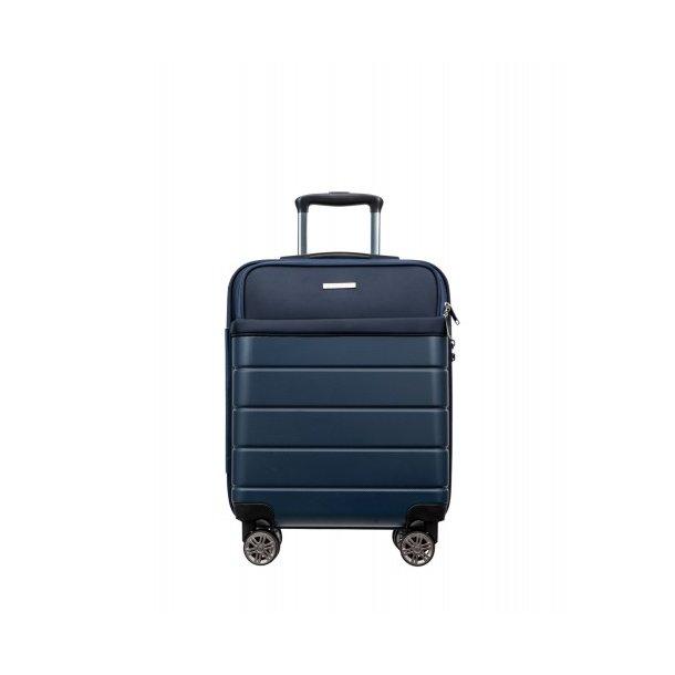 Moderní cestovní kufr ATHENS, velikost M - tmavě modrý