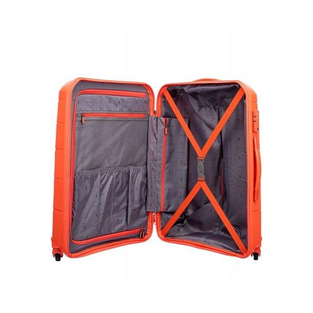 Moderní cestovní kufry BAHAMAS - oranžové