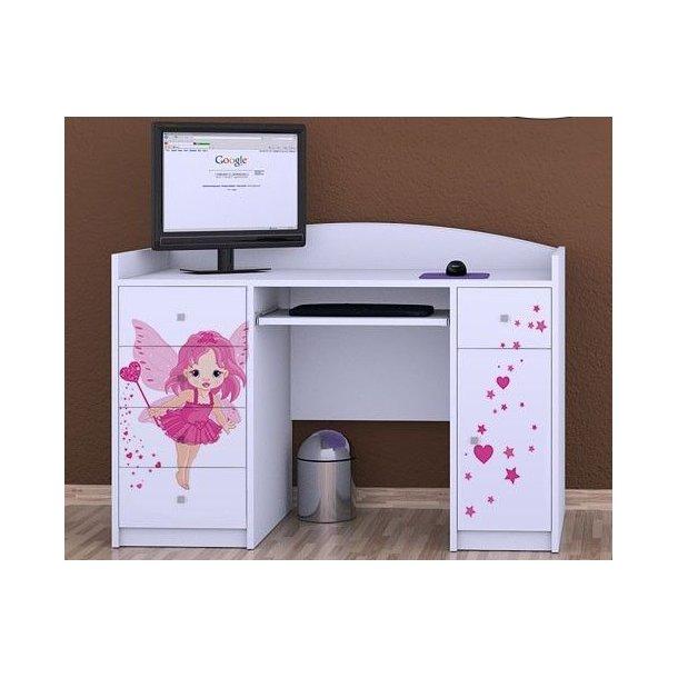 SKLADEM: Dětský psací stůl VÍLA - TYP 1 - bílý