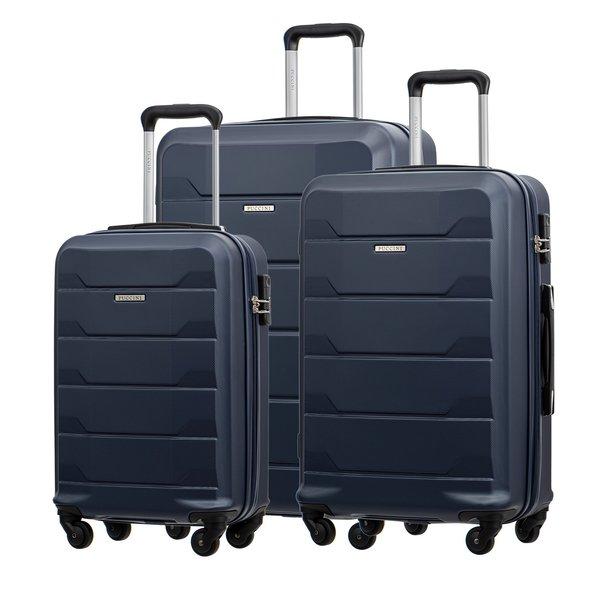 Moderní cestovní kufry MILAN - NAVY modré