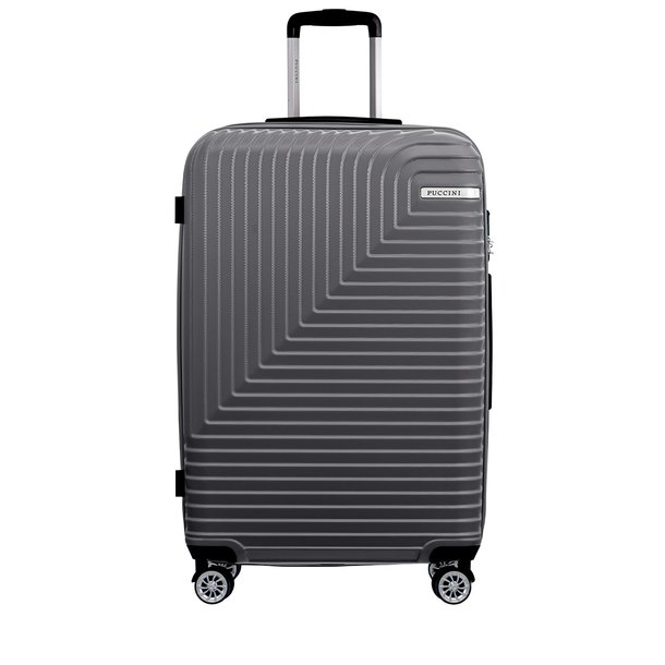 Moderní cestovní kufry FLORENCE - šedé