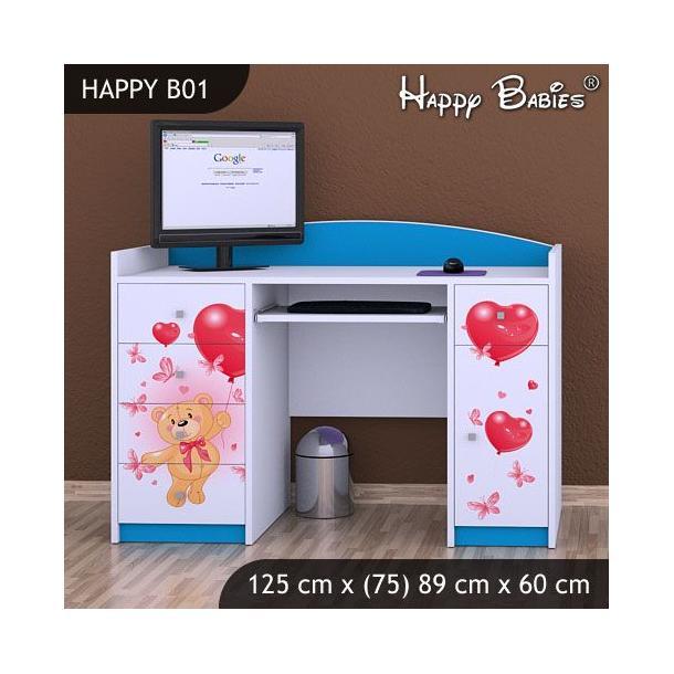 Dětský psací stůl - TYP 1 - modrý