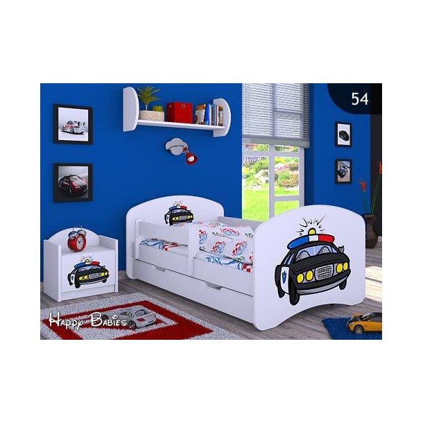 SKLADEM: Dětská postel se šuplíkem 160x80cm POLICIE - bílá