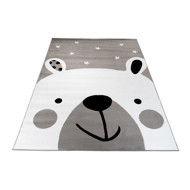 Dětský koberec PASTEL lední méďa - šedý - 160x220 cm